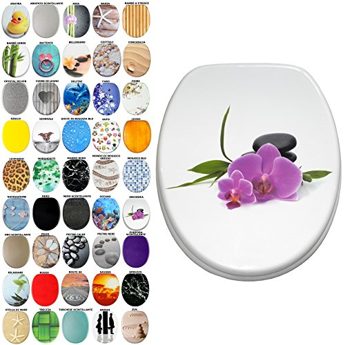 Sedile wc, grande scelta di belli sedili wc da legno robusto e di alta qualità (orchidea)