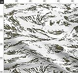 Schnee, Tiger, Tarnfarbe, Stoffe - Individuell Bedruckt von