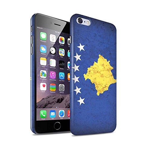 STUFF4 Glanz Snap-On Hülle / Case für Apple iPhone 6+/Plus 5.5 / Mazedonien/Mazedonisch Muster / Europa Flagge Kollektion Kosovo/Kosovan