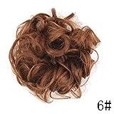 Femme Faux Postiche ondulée bouclée Messy Cheveux Donut Cheveux Chignon Perruque de cheveux chignon extension élastique Cheveux Cravate Chouchou Chouchou Cheveux