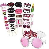 Kyerivs - Gafas de despedida de soltera o soltero y accesorios para fotografías o juegos, 30 piezas