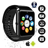Bluetooth Smartwatch, YAPMOR Smart Wrist Watch Compatible with Android/IOS, Fitness Tracker Wristband Sport Watch with Alarms/Sleep Analysis/Romte Capture/Camera Shot/GPS Route Tracking (GT08)