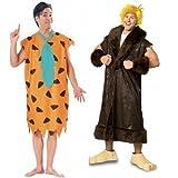 Herren Paar Fred und Barney's Schutt Feuersteins 60s Jahre Film/TV Prähistorisch Höhlenmensch Kostüm Verkleidung Outfit - Mehrfarbig, Fred STD & Barney XL