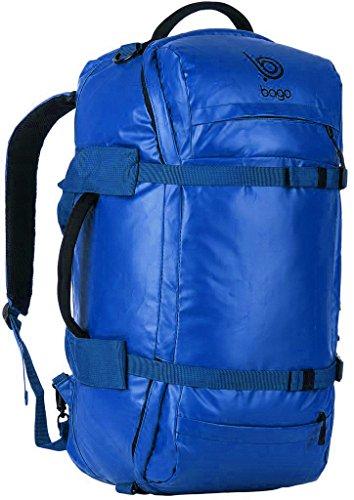 Bago Zaino Duffle - Borsone Robusto per il Viaggio, Sport, Attrezzi (Blue)