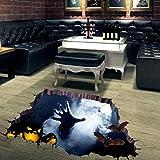 vovo Vovtrade 3D Happy Halloween Boden Wand Aufkleber, Gespenstische Horror-Hand Haushalt Zimmer Wandbilder Dekor Aufkleber Abnehmbar (Mehrfarbig)