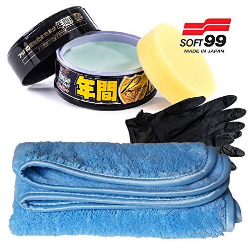 Soft99 Fusso Coat 12 Monate Autowachs Versiegelung inkl.1 Pad für schwarrze und dunkle Lacke Dark & Black Edition 00300