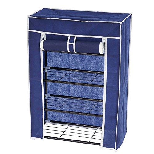 Schuhschrank Campingschrank Faltschrank Kleiderschrank Stoff Wäscheschrank 84x60x29cm ~ blau