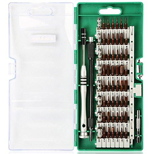Kaisi Präzisions-Schraubendreher-Set, 60 in 1 Magnet-Treiber-Kit mit 56 Mini-Multi-Bit-Sets, professionelle Repair Tool Kit für iPhone / iPad / MacBook / PC / Laptop / Xbox / Uhren & Brillen (Philip Für Iphone Lautsprecher)