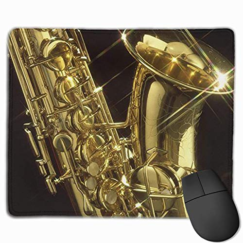 pad-Matte, Smooth Mouse Pad Golden Sax Mobile Gaming Mousepad Work Mouse Pad Office Pad ()
