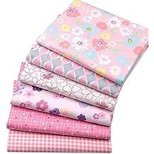 BYY - Lote de 6 telas de algodón para manualidades, 40 x 50 cm,