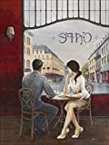 Artland Qualitätsbilder I Alu Dibond Bilder Alu Art 60 x 80 cm Wohnwelten Restaurant Cafés Malerei Bordeauxrot A5TZ Café