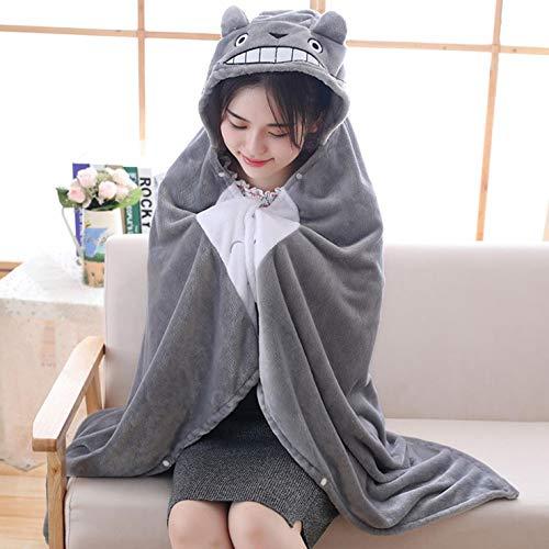 r Anime-Chinchilla-Schal mit Kapuze, Plüsch-Spielzeug, Cosplay-Kostüm, Nickerchen, Korallen-Fleece-Decke für Heimdekoration - Large ()