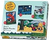 Camera sulla scopa 4 - in - 1 Jigsaw Puzzle. Toy Importato dal Regno Unito.