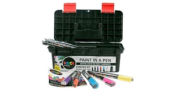 Assorties 8 UNI-Ball Marqueur Peinture POSCA PC5/M M Uni 10//°C /à Lot de 10 1 Rond 2,5/mm