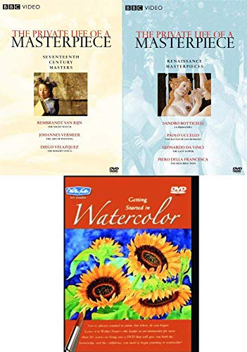 Works Painters and Their Art 3 DVD Artist series Masters BBC Private Life Masterpiece Renaissance Leonardo Da Vinci / Botticelli / 17th Century Vermeer / Rembrant + Paint Watercolor Instructional -