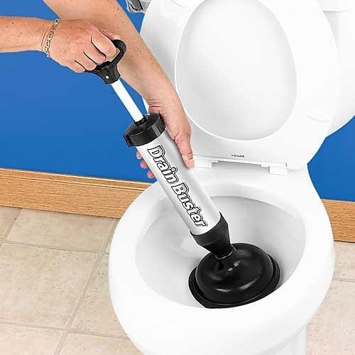 Bakaji Plunger Abflüsse und WC A Pumpe manuell Rohrreinigungsgerät A Druck Drain Buster Stura Rohre -