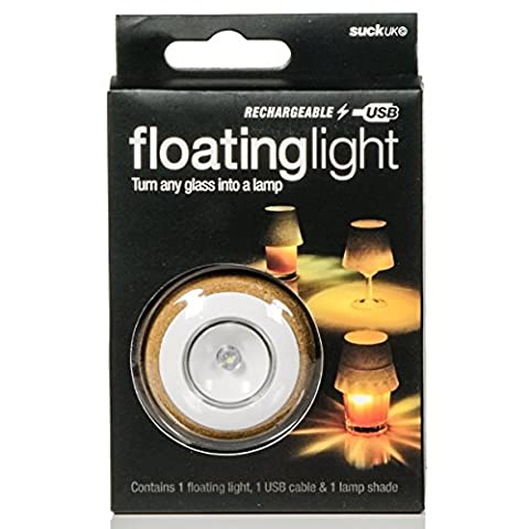 Suck UK LED Rechargeable Floating Light, Yellow