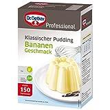 Dr. Oetker Professional Klassischer Pudding mit Bananen-Geschmack, Puddingpulver in 1 kg Packung