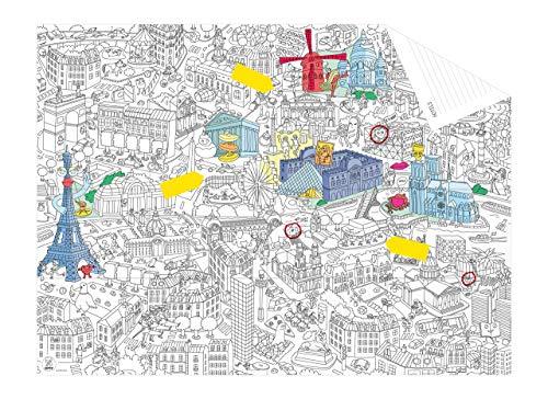 OMY Paris Pocket Map, Papier, Mehrfarbig
