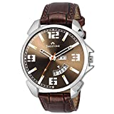 Swisstone Analogue Brown Dial Brown Leat...
