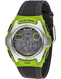 SINAR Jugenduhr digital grün / schwarz 10 bar XE-50-3