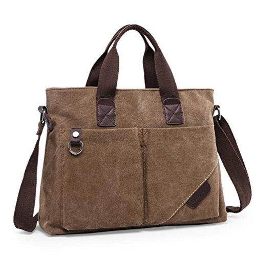 Wmshpeds Portable borsa di tela l Europa e gli Stati Uniti andamento del computer il pacchetto business tela impermeabile Messenger borsa a tracolla C
