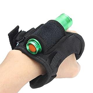 GOZAR Hand Free Light Holder Glove For Outdoor Diving LED Flashlight