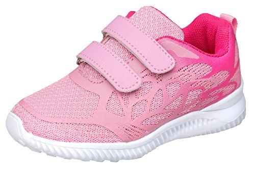 gibra Sportschuhe Sneaker für Babys und Kleinkinder, Art. 2927, Sehr Leicht, mit Klettverschluss, Rosa/Pink, Gr. 23 (Kleinkinder Sportschuhe)
