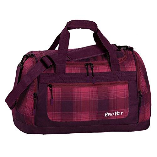 Adidas Weekender (BESTWAY Schulsporttasche Sporttasche Schwimmtasche Freizeittasche Weekender Traveller Bag (Brombeer) - 40195-5100)