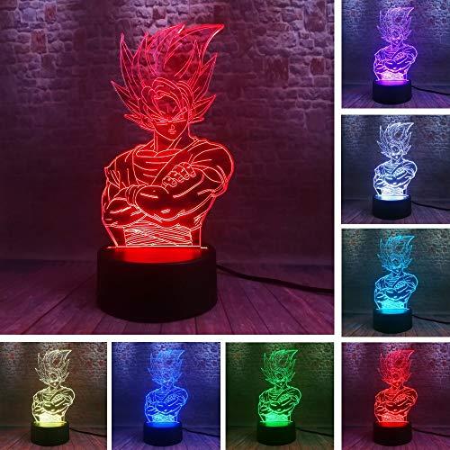 Saiyajin Legenden König Vegeta Dragon Ball Z Kakarotto Gott Goku Figur Action Stärke Bomben 3D 7 Farbe Nachtlicht Jungen Weihnachtsgeschenke