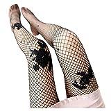FORH Damen Sexy Overknee Fischnetz Strumpfhosen Sparkle Strass Hohe Taille elastische Große Strümpfe Netzstrumpfhose Erotic Oberschenkel Strumpfhosen Socken (Schwarz b)