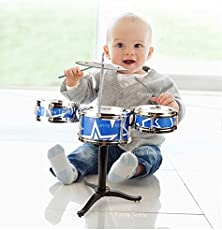 Funny Teddy Mini Jazz Drum Musical Toy for Babies - Assorted Colors | Educational Toys | Birthday Gift