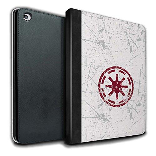 Stuff4® PU-Leder Hülle/Case/Brieftasche für Apple iPad Air 2 Tablet/Galaktische Republik Inspiriert Muster/Galaktisches Symbol Kunst Kollektion (Galaktische Symbole)