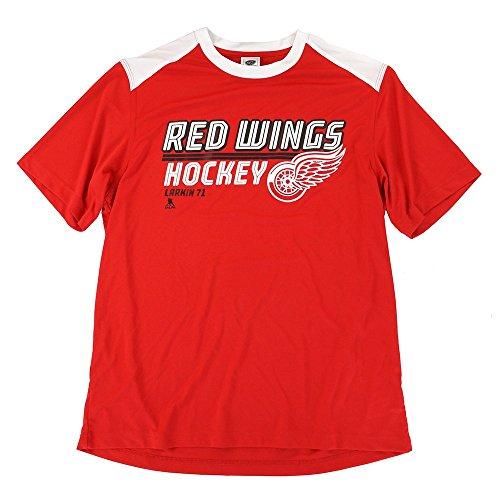 adidas Dylan Larkin NHL Detroit Red Wings Performance Player Graphic T-Shirt Herren, Herren, rot, Large