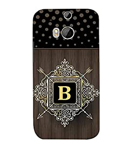 Fiobs indic dot pattern royal design alphabet B Designer Back Case Cover for HTC One M8 :: HTC M8 :: HTC One M8 Eye :: HTC One M8 Dual Sim :: HTC One M8s