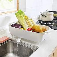 HUAIX Home Rejillas de Cocina de plástico con Fregadero Escurridor Bandeja  de Almacenamiento de vajilla Vegetal 4f8f33c98ab1