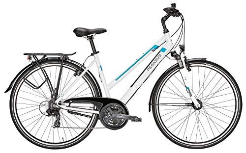 Damen Fahrrad 28 Zoll weiß - Pegasus Piazza Citybike - Shimano Kettenschaltung, STVZO Beleuchtung