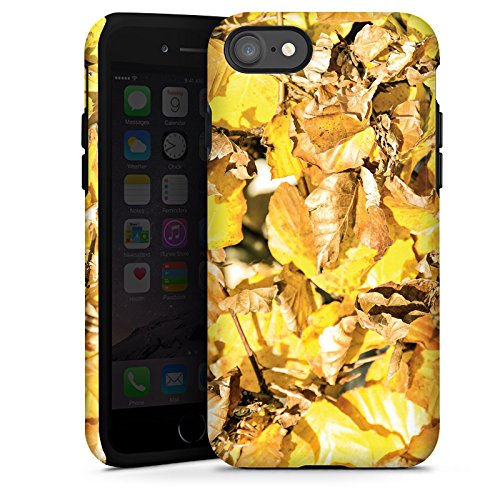 Apple iPhone X Silikon Hülle Case Schutzhülle Herbst Laub Blätter Tough Case glänzend