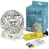 scriball de Mitre–personaliseable Mini Fútbol con rotuladores, color Zultz, tamaño n/a