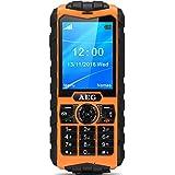 """AEG M550 Téléphone portable IP68 étanche imperméable antichoc avec Ecran couleur de 2,4"""" Orange"""