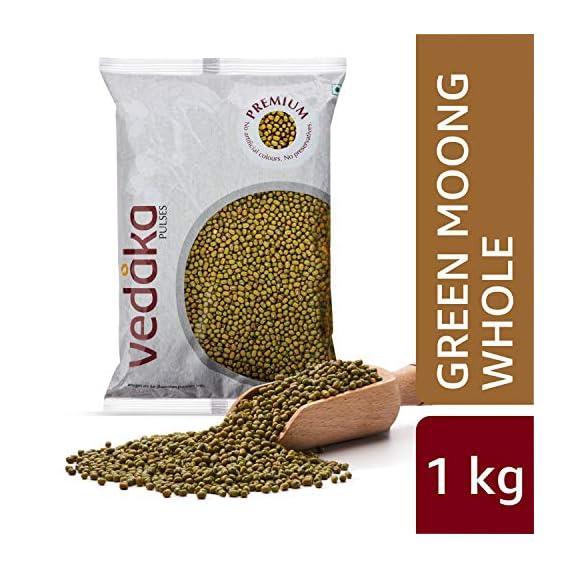 Amazon Brand - Vedaka Premium Green Moong Whole/Sabut, 1 kg