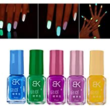 Amlaiworld-5pcs Neón fluorescente luminoso de uñas ...