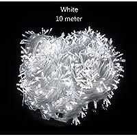 iMusi 100 LED catena leggera di 10 metri interno bianco per la funzione di illuminazione della stanza di nozze di Natale 230v 8 Classe energetica A - Bianco - Led Si Illumina Di Nozze