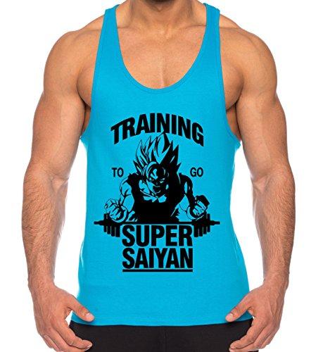 d6f0357710b Goku Super Saiyan de los Hombres Camisa del músculo One Goku Dragon Master  Son Ball Vegeta
