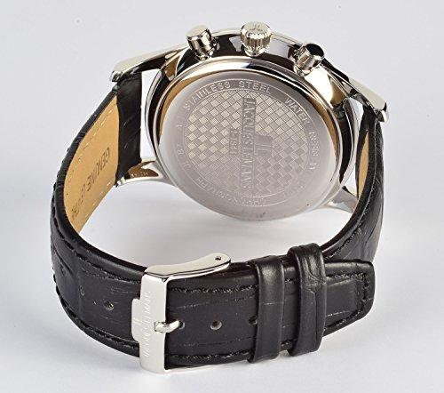 Jacques Lemans Herren Analog Quarz Smart Watch Armbanduhr mit Leder Armband 1-1844A