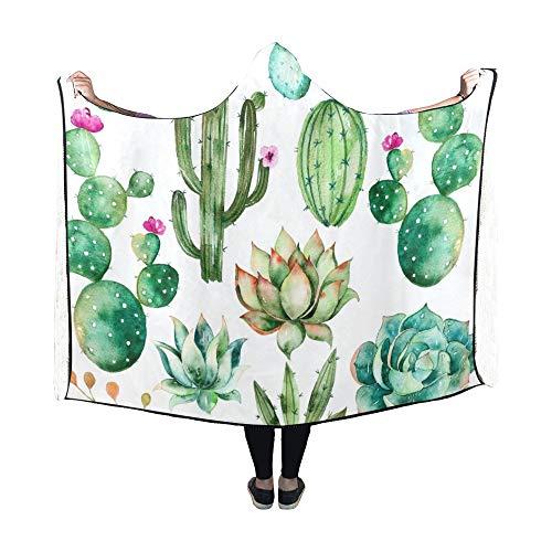 Zemivs Hooded Blanket Set Hochwertige handbemalte Decke 60x50 Zoll Comfotable Hooded Throw Wrap -