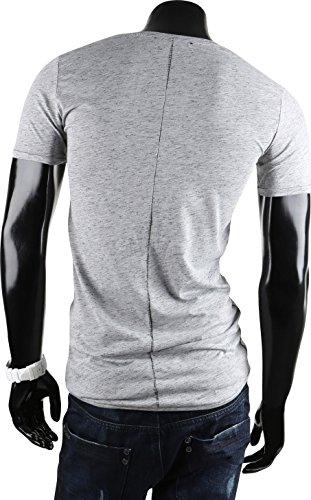 Tazzio Herren Polo Hemd Poloshirt Shirt Kurzarm Grau Agueda