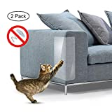 Aolvo Cat Scratch Möbel, 2 Pcs Clear Premium Heavy Duty flexiblem Vinyl Pet Couch Displayschutzfolie Guards für Schutz Ihrer Möbel, Stoppt Kratzen Katzen Möbel Displayschutzfolie