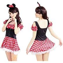 Disfraz de Halloween Mickey Cenicienta Blancanieves Traje de la bruja de Halloween SC361 Minnie Mouse con la venda del traje del vestido de una sola pieza de Disney Minnie Minnie (jap?n importaci?n)