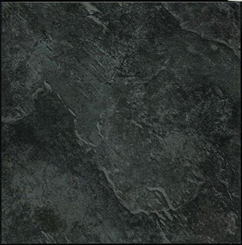 28-x-piastrelle-pavimento-in-vinile-adesive-cucina-bagno-sticky-brand-new-tinta-unita-nero-ardesia-m